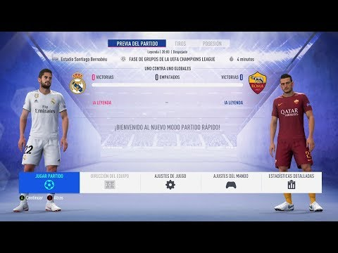 FIFA19 DEMO REAL MADRID vs ROMA
