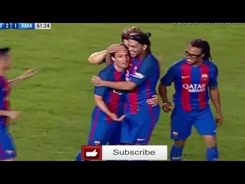 FC Barcelona Legends vs Real Madrid Legends April 28th 2017 All Goals and Highlights!