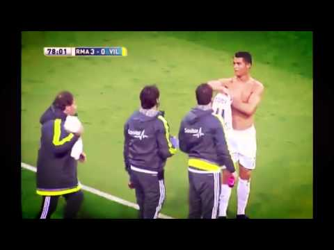 Cristiano Ronaldo Ripped T-shirt ~ Real Madrid vs Villarreal 3:0 La Liga 2016 HD 20/04/2016