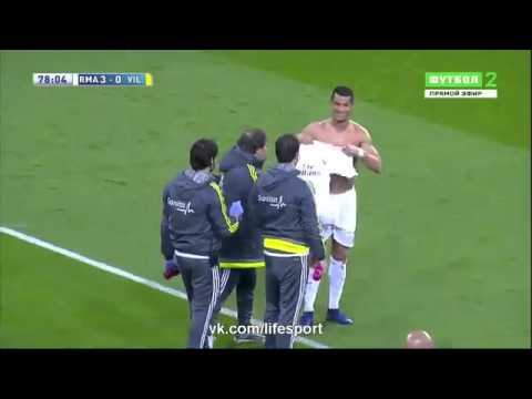 Cristiano Ronaldo Ripped T shirt   Real Madrid vs Villarreal 3 0 La Liga 2016 HD 20 04 2016