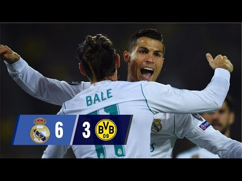 Real Madrid Vs Borussia Dortmund 6-3 UCL – All Goals and Highlights (Last 2 Matches) 2017-18 HD