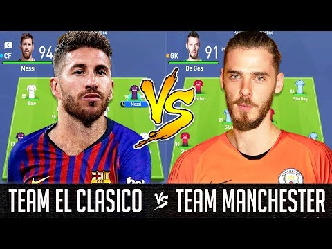 El Clasico XI VS Manchester Derby XI – FIFA 19 Experiment