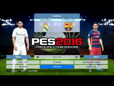 PES 2016 Real Madrid Vs Barcelona 1-1 PS3 HD
