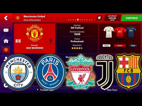 Football Manager Mobile 2019 Real Name With Save Data + Club Logo + SS Kits + Face Packs