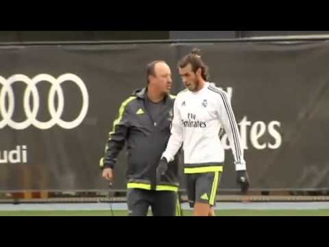 [VIDEO] Gareth Bale ''Does not Care'' Rafa Benitez at Real Madrid training l Melbourne 2015