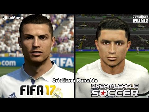 FIFA 17 vs Dream League Soccer – Real Madrid – COMPARACIÓN DE LA CARA