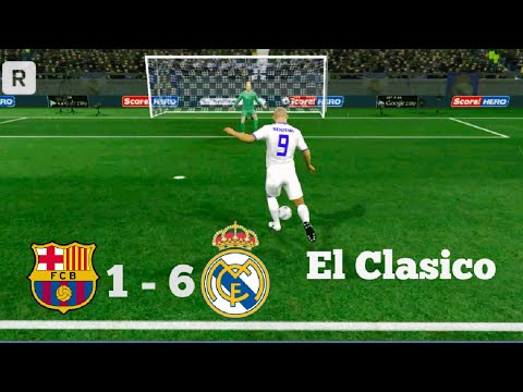 Barcelona vs Real Madrid – El clasico 2017 match – Dream league soccer 2017 – gameplay