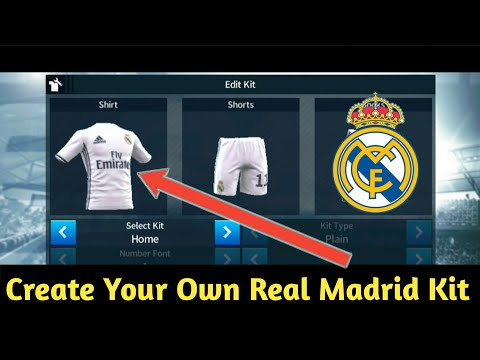 How To Create Real Madrid Kit For DLS 18 Easy Full Tutorial