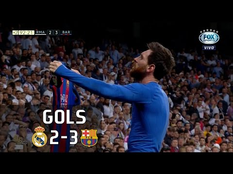 Gols – Real Madrid 2 x 3 Barcelona – La Liga 16-17 – Fox Sports HD