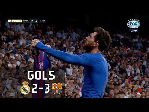 Gols – Real Madrid 2 x 3 Barcelona – La Liga 16-17 – Fox Sports HD