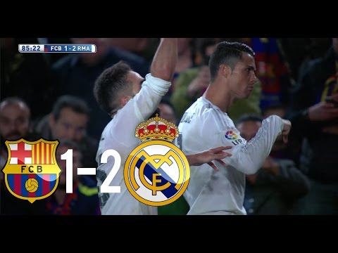 Barcelona vs Real Madrid 1-2 UHD 4K All Goals & Highlights (02/04/2016)