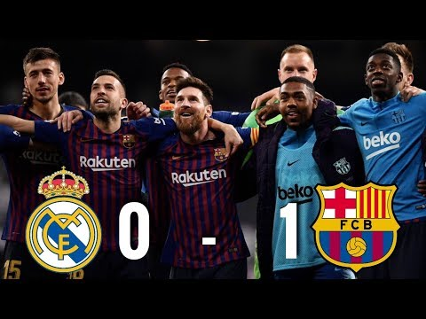 Real Madrid vs Barcelona [0-1], La Liga 2019 – MATCH REVIEW