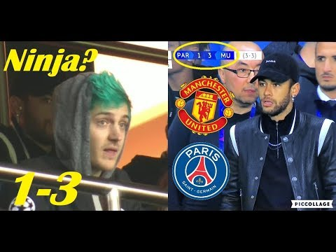 Famous People Reactions To PSG vs Manchester United 1-3 UCL 2019 Ft. Ninja, Neymar
