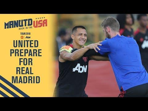De Gea, Fred & Sanchez | Manchester United Training | Utd v Real Madrid LIVE On MUTV Tonight!