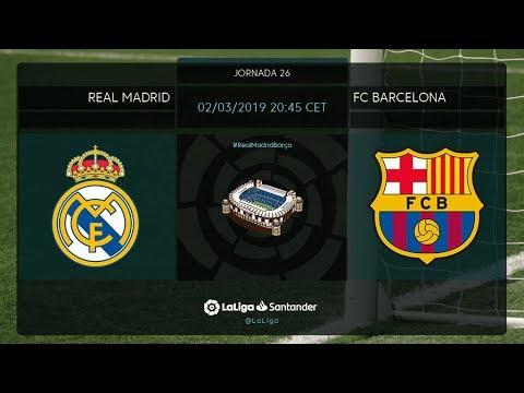 Calentamiento Real Madrid vs FC Barcelona
