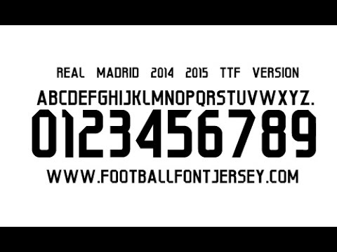 REAL MADRID 2014 2015 FONT TTF FREE DOWNLOAD