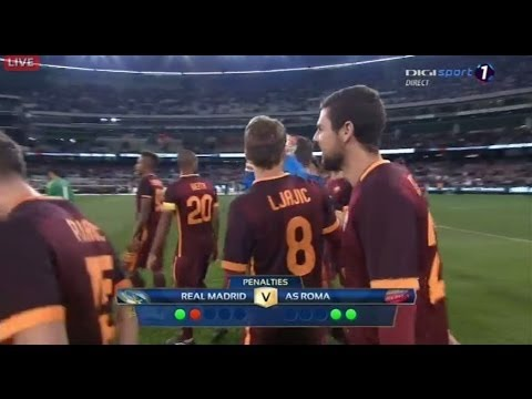 Real Madrid vs As Roma 6-7 Penalties Friendly Highlights 2015