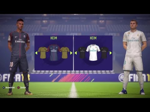 FIFA 18 | PSG vs Real Madrid | Full Match Gameplay, New Free Kicks (PS4/XBOX ONE) HD 1080p 60FPS