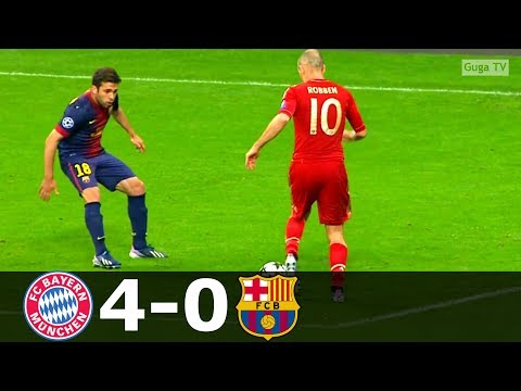 Bayern Munich vs Barcelona 4-0 – UCL 2012/2013 – Highlights (English Commentary)