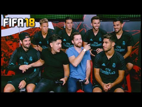 PLAYING FIFA 18 WITH REAL MADRID PLAYERS! – #FUTLIVE IN CHICAGO