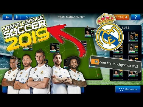 Create 'Real Madrid' in DLS19 • Players, Logo, Kits • Dream league soccer 2019