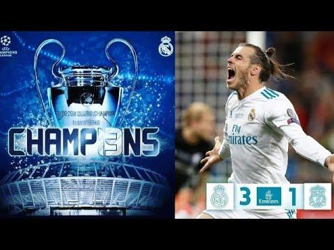 DRAMA Real Madrid vs Liverpool (3-1) Final Liga Champions 2018 | Gol Salto Bale Bawa Madrid Juara