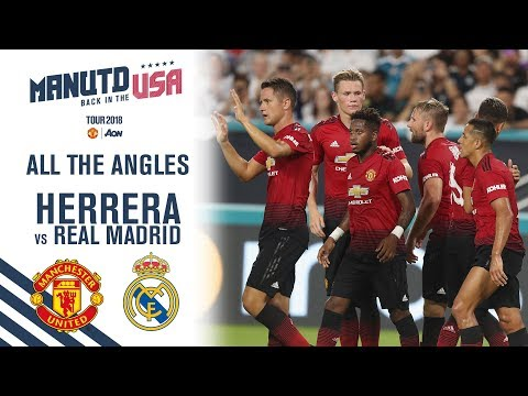 Ander Herrera v Real Madrid | All the Angles | Manchester United 2-1 Real Madrid