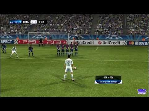PES 2012 – Real Madrid Vs Barcelona (5-2) on Super Star Level – Winning UEFA Champions League!