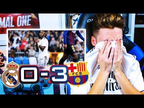 REACCIONES DE UN HINCHA Real Madrid vs Barcelona  0-3 **VINICIUS ME DESESPERA**