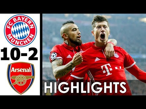 Bayern Munich vs Arsenal 10-2 All Goals and Highlights w/ English Commentary (UCL) 2016-17 HD 720p