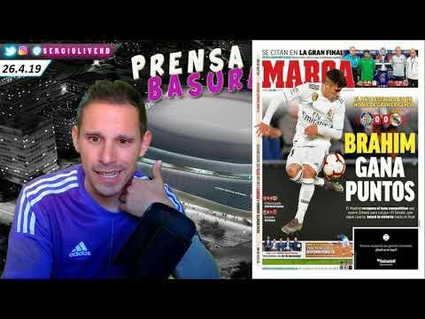 EL MARCA Y SU REALIDAD PARALELA… + REACCIONES AL GETAFE 0-0 REAL MADRID EN #PRENSABASURA