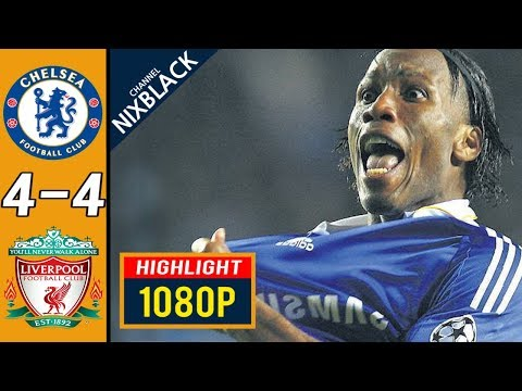 Chelsea 4-4 Liverpool 2009 Champions League Quarter Final All goals & Highlights FHD/1080P