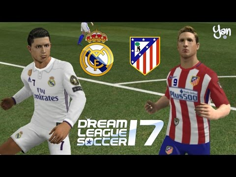 Real Madrid vs Atlético de Madrid • Dream League Soccer 2017 • Semifinal da Champions League