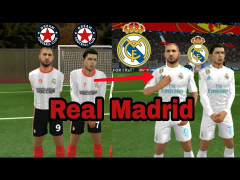 Create Real Madrid Team | Change Kits Logo & Players | Dream League Soccer 2018