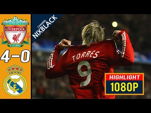 Liverpool 4-0 Real madrid 2009 Champions League Round of 16 All goals & Highlights FHD/1080P