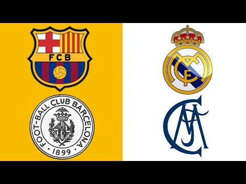 Barcelona vs Real Madrid | The Logo Evolution In History