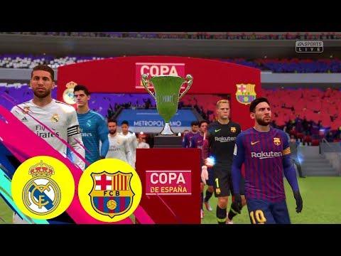 FIFA 19 Real Madrid v FC Barcelona Cup de Espana Final ELCLASICO