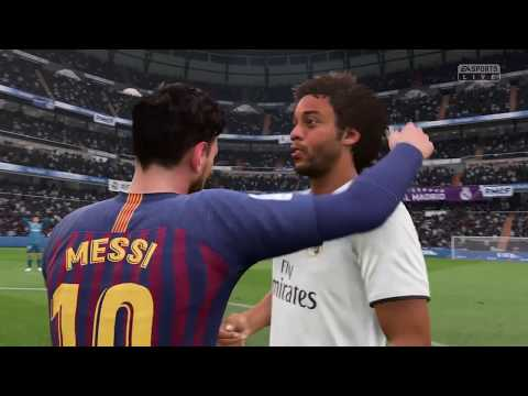 FIFA 19 PS4 Gameplay: REAL MADRID v FC BARCELONA 2018
