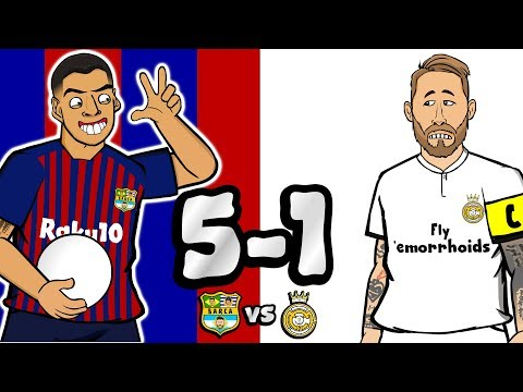 😲5-1! El Clasico 2018😲 Don't Worry Messi! (Barcelona vs Real Madrid Goals Highlights Parody)