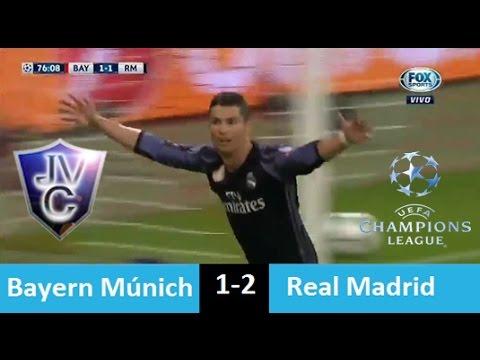 (Relato Mariano Closs)Bayern  Múnich 1-2 Real Madrid 12/04/17 Doblete De Cristiano UCL 2017