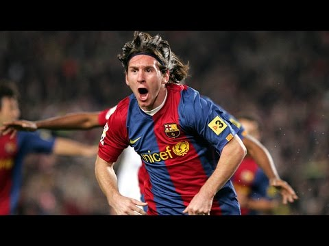 Lionel Messi first Hat-trick ● FC Barcelona vs Real Madrid ● 10/3/07