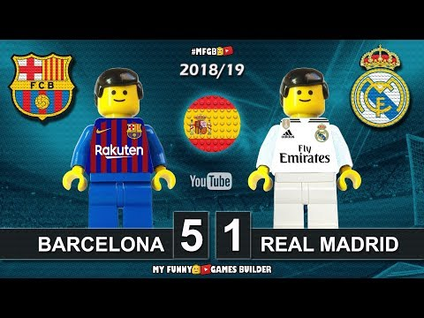 Barcelona vs Real Madrid 5-1 • El Clasico • LaLiga 2019 (28/10/2018) Goals ElClasico Lego Football