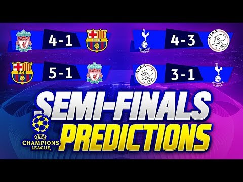 UCL 2018/19 SEMI FINALS PREDICTIONS | 🏆UEFA CHAMPIONS LEAGUE 2018/19🏆 BARCA vs LIVERPOOL 3-0 GOALS