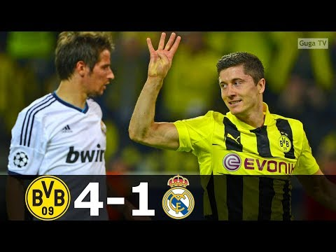 Borussia Dortmund vs Real Madrid 4-1 – UCL 2012/2013 – Highlights (English Commentary)