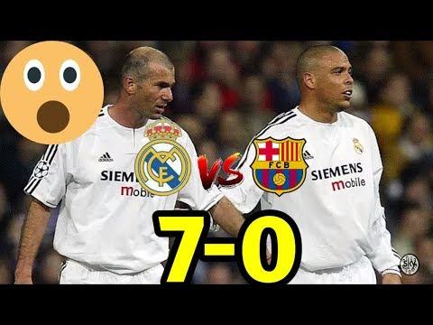 """ريال مدريد & برشلونة 7-0 فوز كاسح لريال مدريد """"المبارة التي لم يشاهدها الجميع"""" HD"""