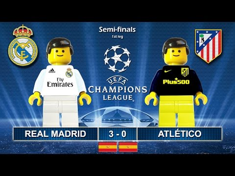 Real Madrid vs Atletico Madrid 3-0 • Semi-finals Champions League 2017 • Highlights Lego Football