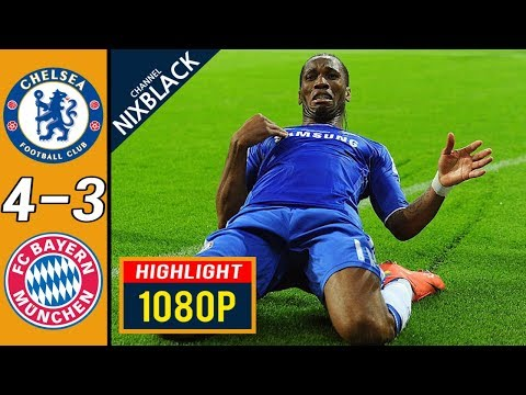 Chelsea 4-3 Bayern Munich 2012 Champions League Final All goals & Highlights FHD/1080P