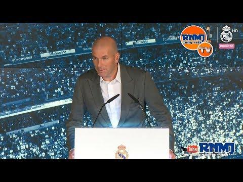 ZIDANE nuevo entrenador REAL MADRID acto de presentación completo y rueda de prensa (11/03/19)