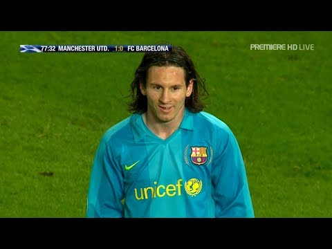 Lionel Messi vs Manchester United (UCL) (Away) 2007-08 English Commentary HD 720p