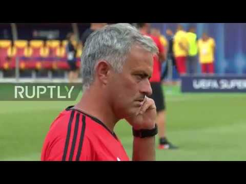 Macedonia: Manchester United train ahead of Real Madrid Super Cup showdown